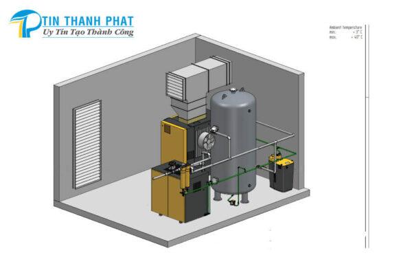 giải pháp thông gió làm mát cho máy nén khí