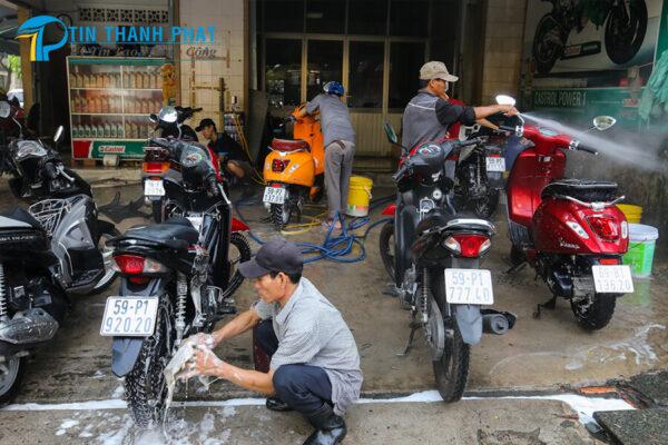 máy nén khí phù hợp với tiệm rửa xe