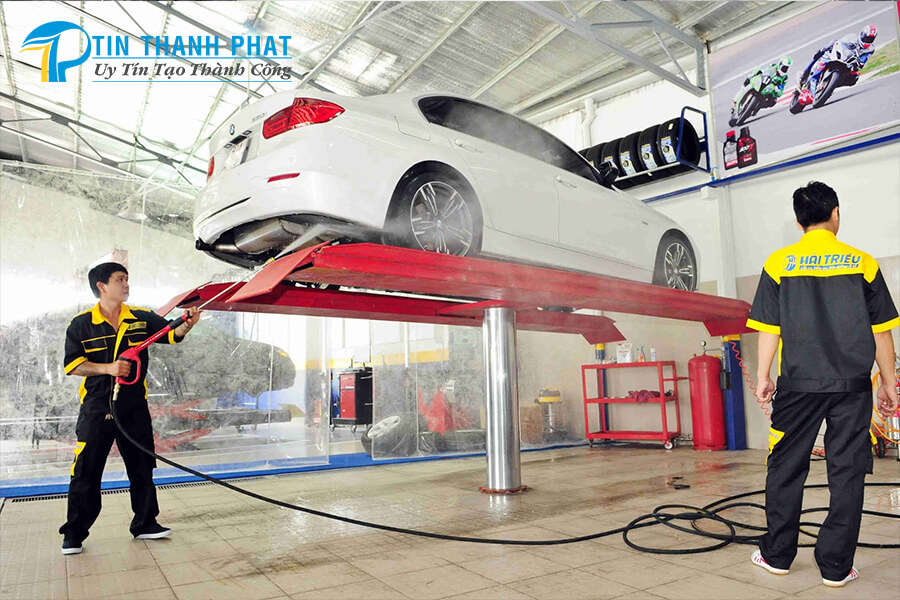 thông số máy nén khí phù hợp với tiệm rửa xe hơi
